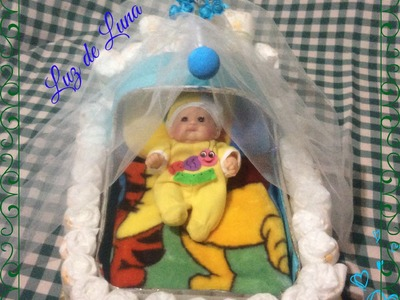 MOISES CON PAÑALES PARA BABY SHOWER