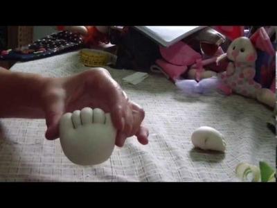 Muñecos Soft. pie desnudo simple punto cero atrás proyecto 25