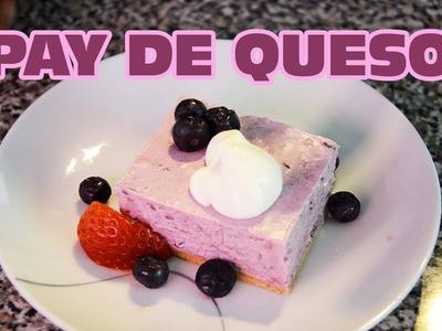 Pay de queso con zarzamora y fresas SIN HORNO | Pie de queso MUY FÁCIL | Recetas de cocina