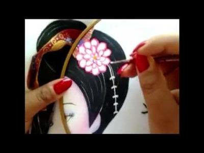 Pintura en tela Gueisha con cony