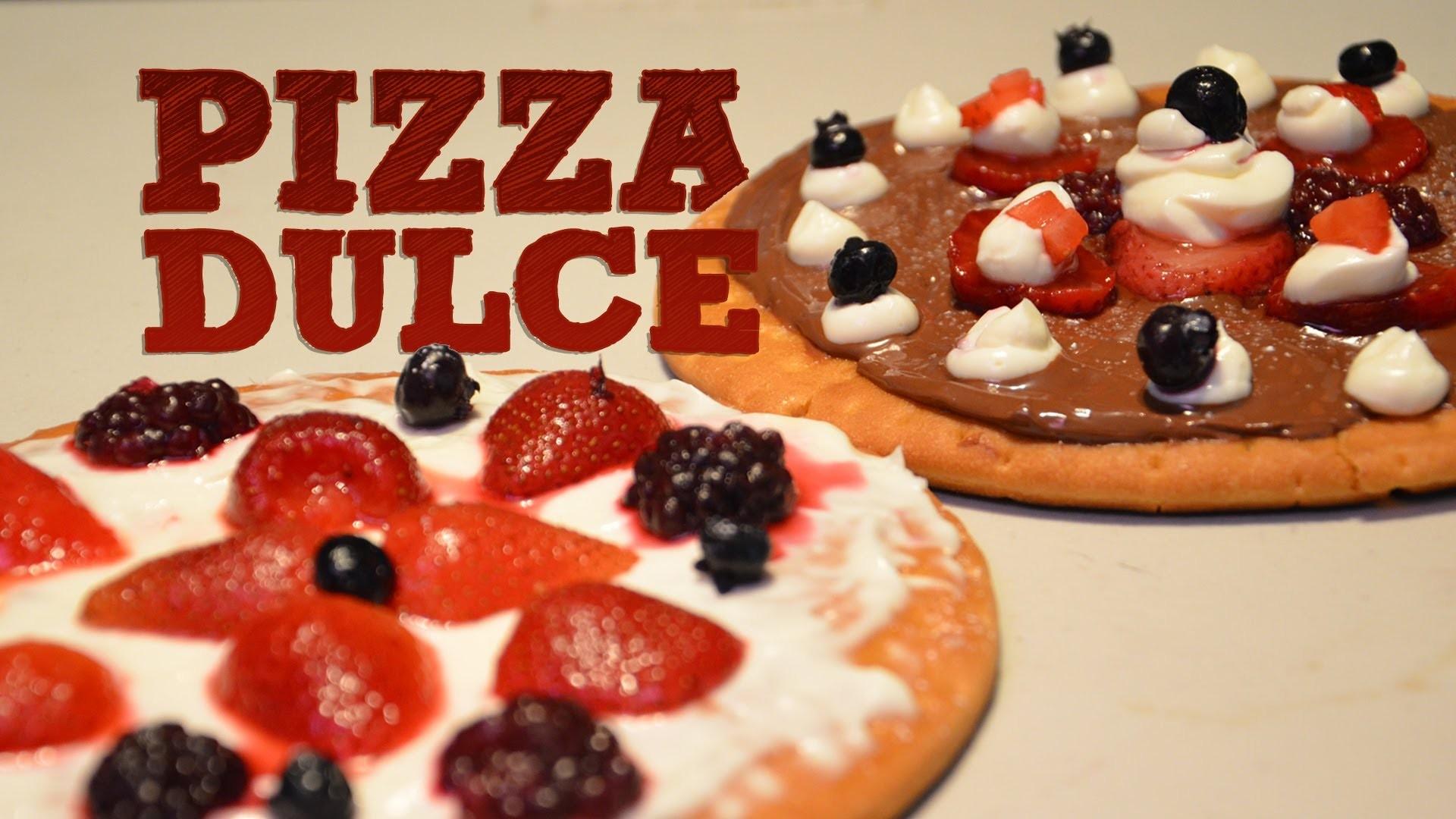 PIZZA DULCE SIN HORNO MUY FÁCIL | Recetas de postres ¿Como hacer pizza dulce? | Recetas fáciles
