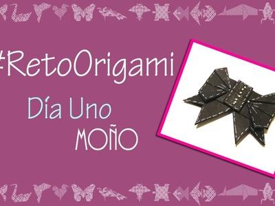 #RetoOrigami Día No.1 #Moño #Listón #Bow