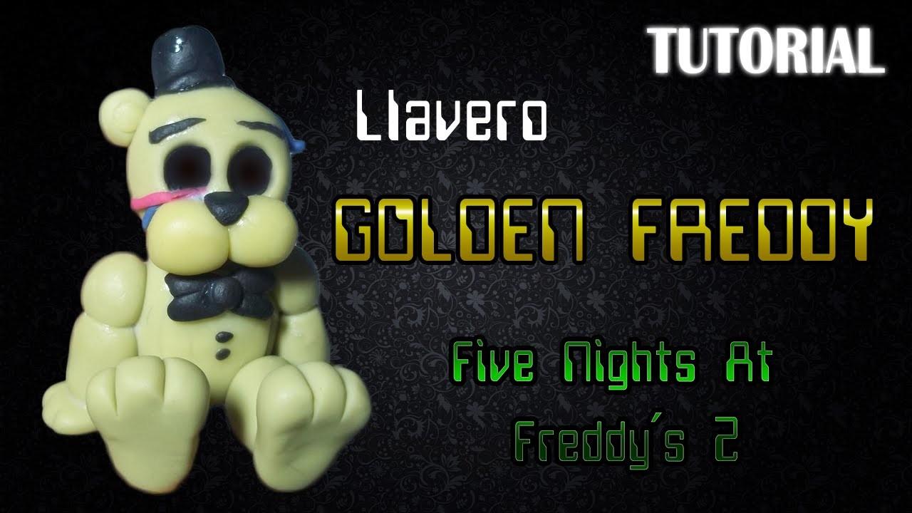 Tutorial Llavero Golden Freddy en Porcelana Fria | FNaF | Golden Freddy Charm Polymer Clay Tutorial