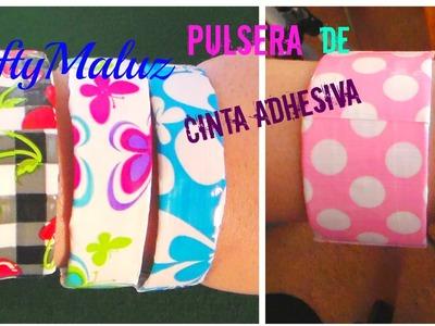 Tutoriales:♥:pulsera de cinta adhesiva decorativa