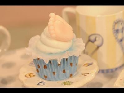 Baby Shower - Como hacer modelado en cupcakes inspirados en el ajuar del bebé.