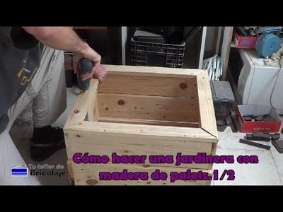 Cómo hacer una jardinera con madera de palets.1.2