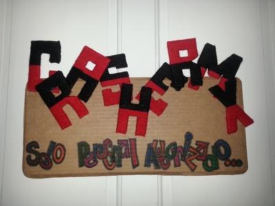 DIY- Decora tu habitación| Lindo cartel con estambre