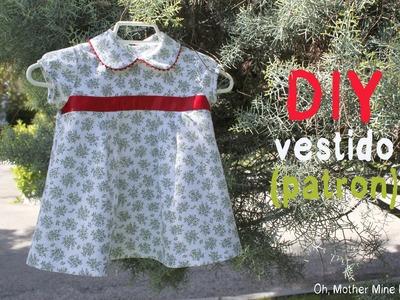 DIY Ropa de bebé: Vestido de flores y mangas de globo (patrón incluido)