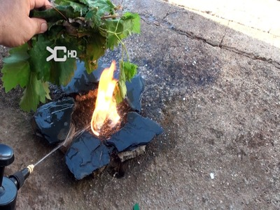 Encender fuego con agua -  Open fires with water