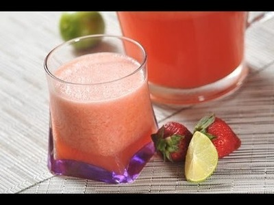 Limonada de fresa - Pink lemonade - Recetas de aguas frescas de fruta