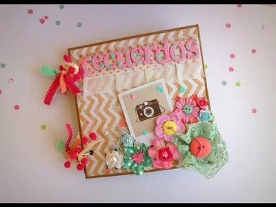 """Mini album paperbag """"Recuerdos"""""""