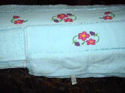 Mis toallas en punto de cruz.wmv