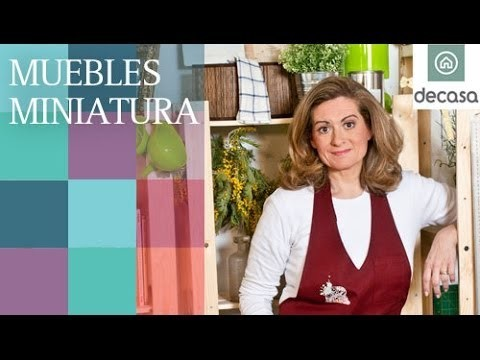 Muebles miniatura (Tutorial) | Reciclarte