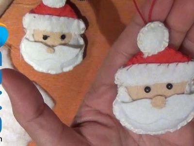 Muñeco de Santa Claus con Fieltro para el árbol