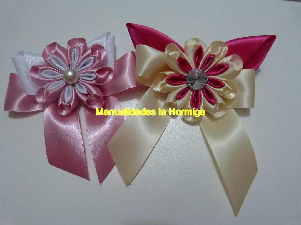 Novedosas flores moños  accesorios para el cabello .ribbons and flowers for hair