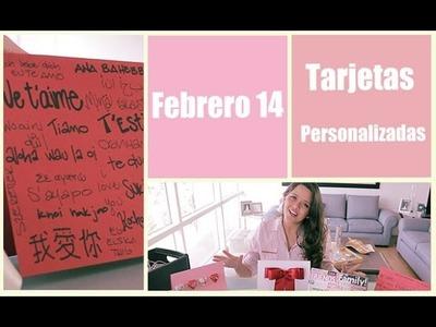 San Valentín, tarjetas personalizadas para tu persona especial DIY   Me lo dijo Lola