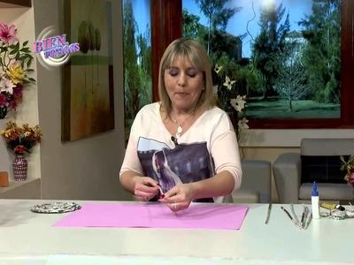 Silvina Buquete - Espejo decorado en estilo cestería