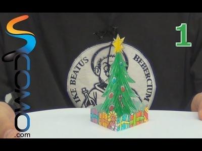 Tarjeta navidad con árbol navideño 3d (1º parte)