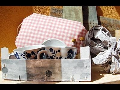 Tutorial: cómo forrar una caja con tela