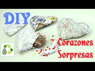 148. DIY CORAZONES SORPRESAS (RECICLAJE DE PAPEL)