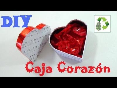 155. DIY CAJA CORAZON  (RECICLAJE DE CARTON)
