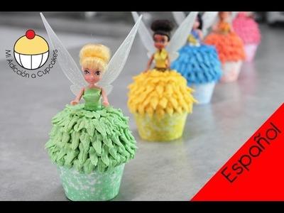 ¡CUPCAKES DE HADAS CAMPANITA! Cómo hacer Cupcakes de Campanita y sus Hadas Amigas