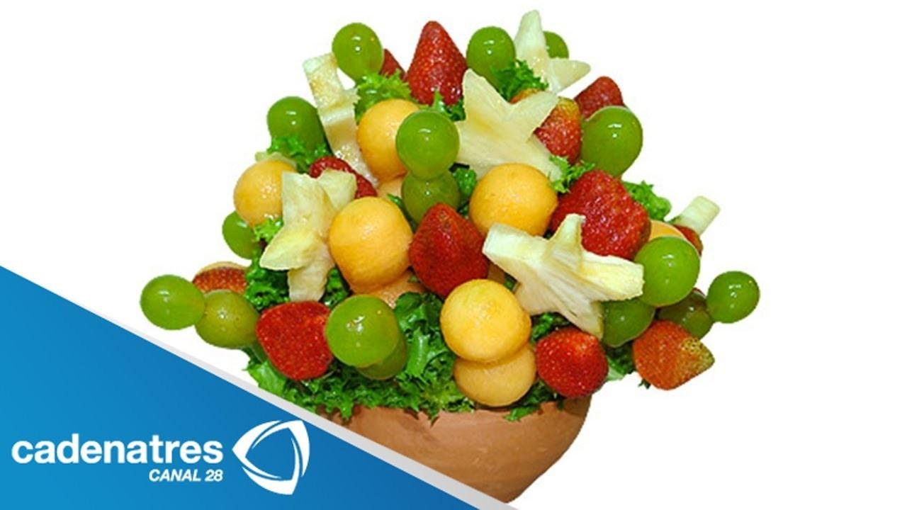 ¿Cómo elaborar unos hermosos arreglos de frutas?. Arreglos de frutas paso a paso