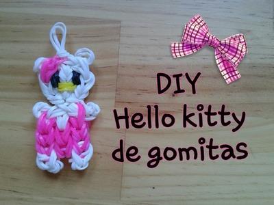 Cómo hacer a HELLO KITTY de gomitas con telar
