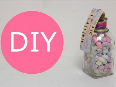 Cómo hacer Botellas con Dulces. Ideas de regalo para San Valentin - Hablobajito
