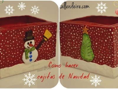 Cómo hacer cajas de Navidad