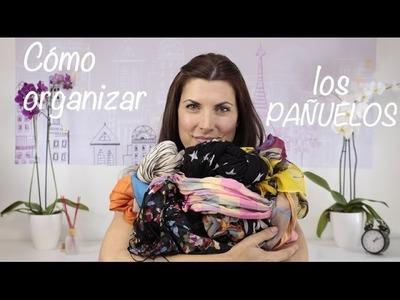 Cómo hacer para colocar y organizar pañuelos