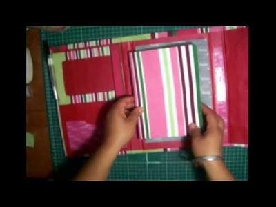 Como hacer un diario o agenda de cartón