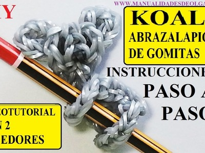 COMO HACER UN KOALA ABRAZALAPICES DE GOMITAS CON DOS TENEDORES. VIDEO TUTORIAL DIY