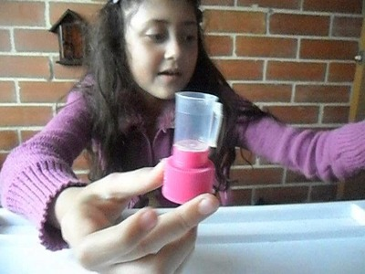Como hacer una licuadora para muñecas  =)