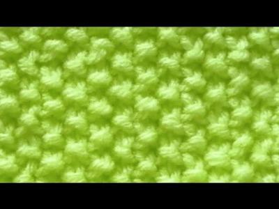 Como Tejer Punto Arroz  - Rice Stitch 2 Agujas (5)