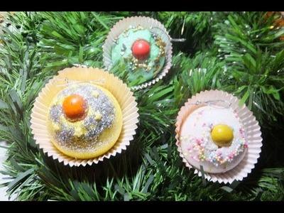 Cupcakes o pastelitos para el árbol de Navidad.