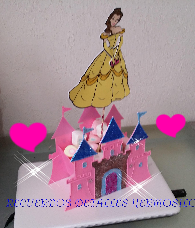 DIY Como hacer Centro de Mesa de Castillo Princesa bella