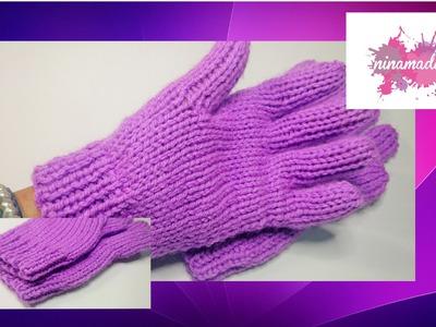 DIY. Como tejer guantes con dos agujas!!