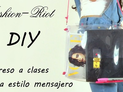 DIY - Regreso a clases - Bolsa estilo mensajero