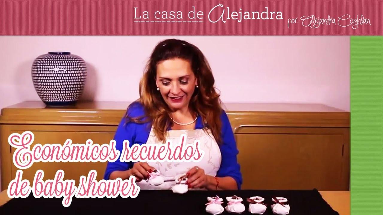 Económicos recuerdos de baby shower DIY Alejandra Coghlan