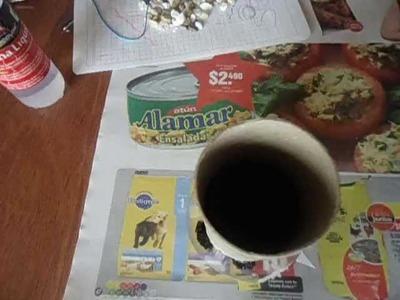 Manualidad con un tubo de papel higiénico  TUTORIAL