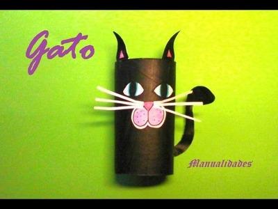 Manualidades. Gato negro para decorar en Halloween