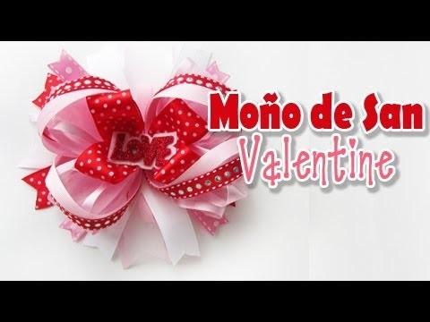 Moño del Dia de San Valentin (Tutorial)