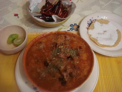 Receta Sabrosas Migas de Pan en Guajillo
