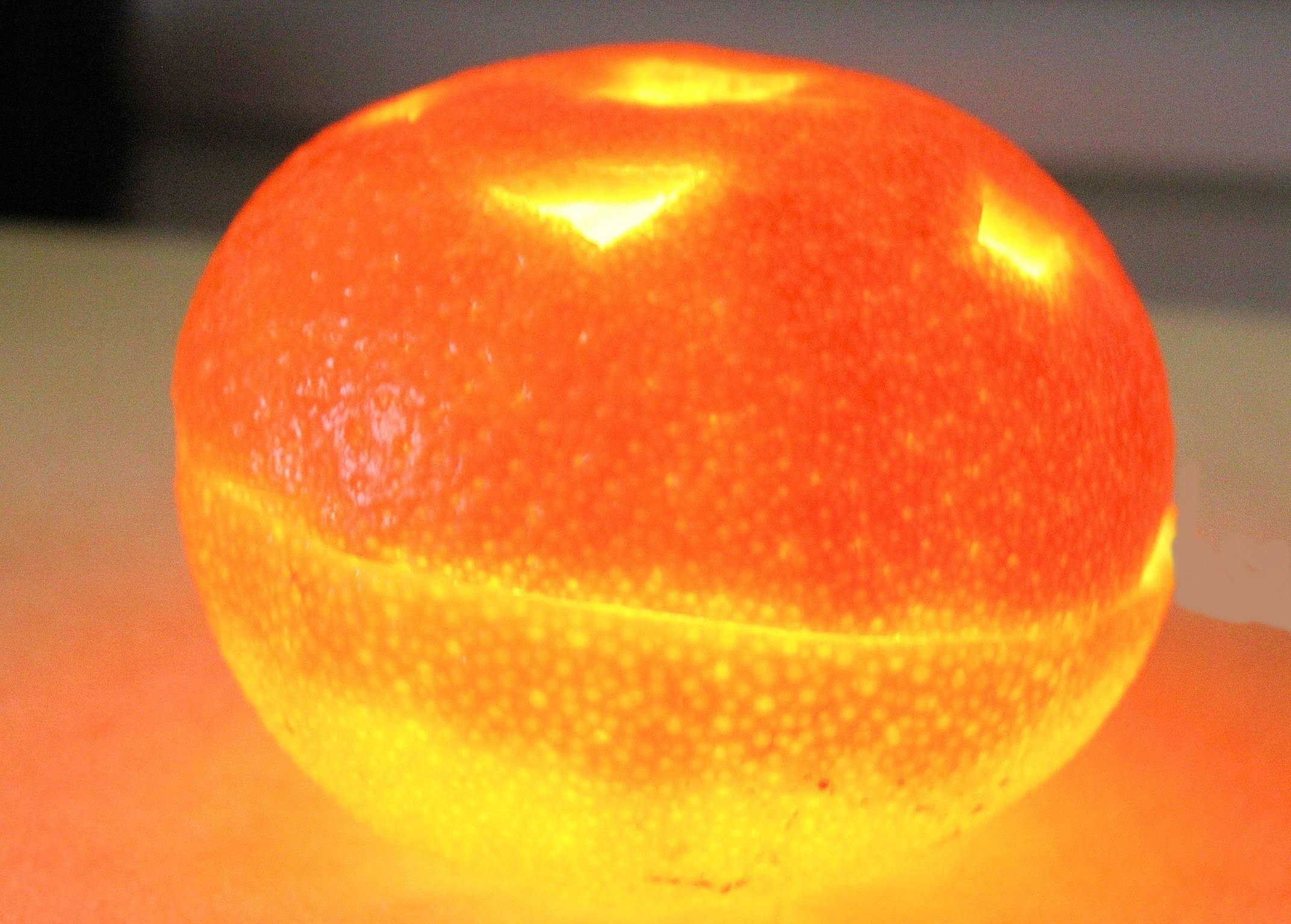 Reciclaje: Velas arómaticas de mandarina. diy: Orange candle