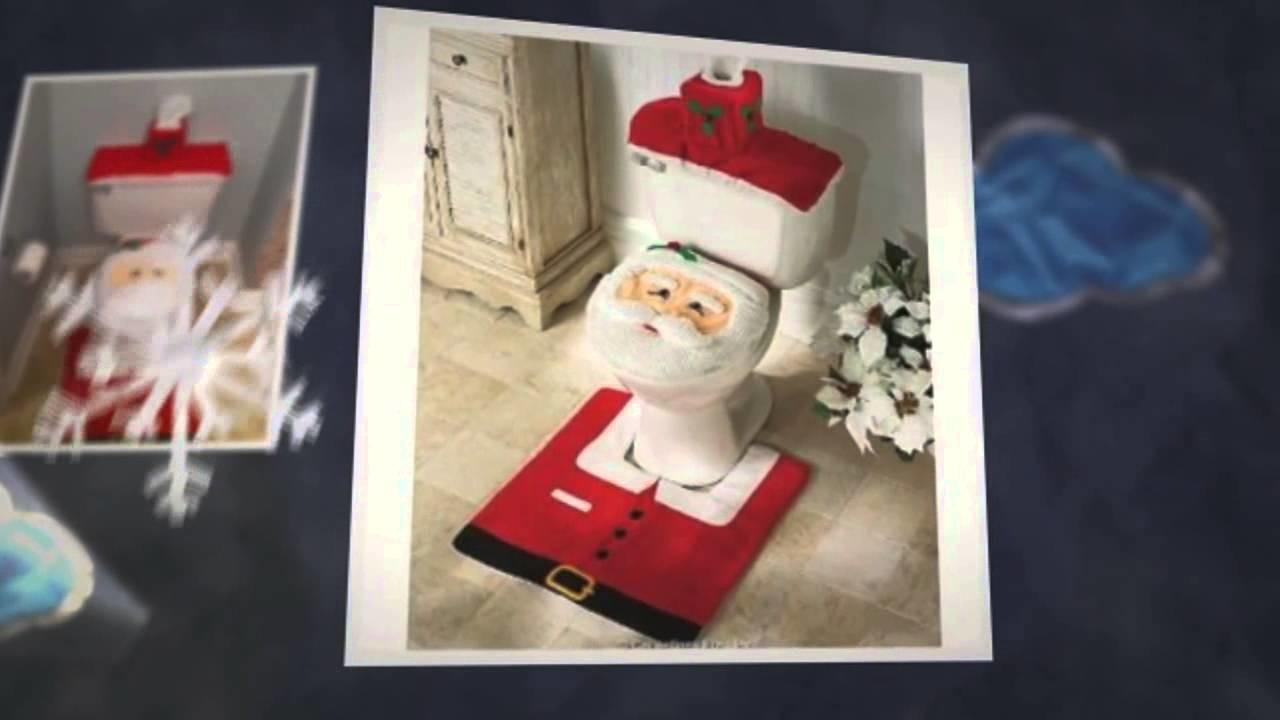 Taza de baño Santa Claus -- cuarto de baño navideño