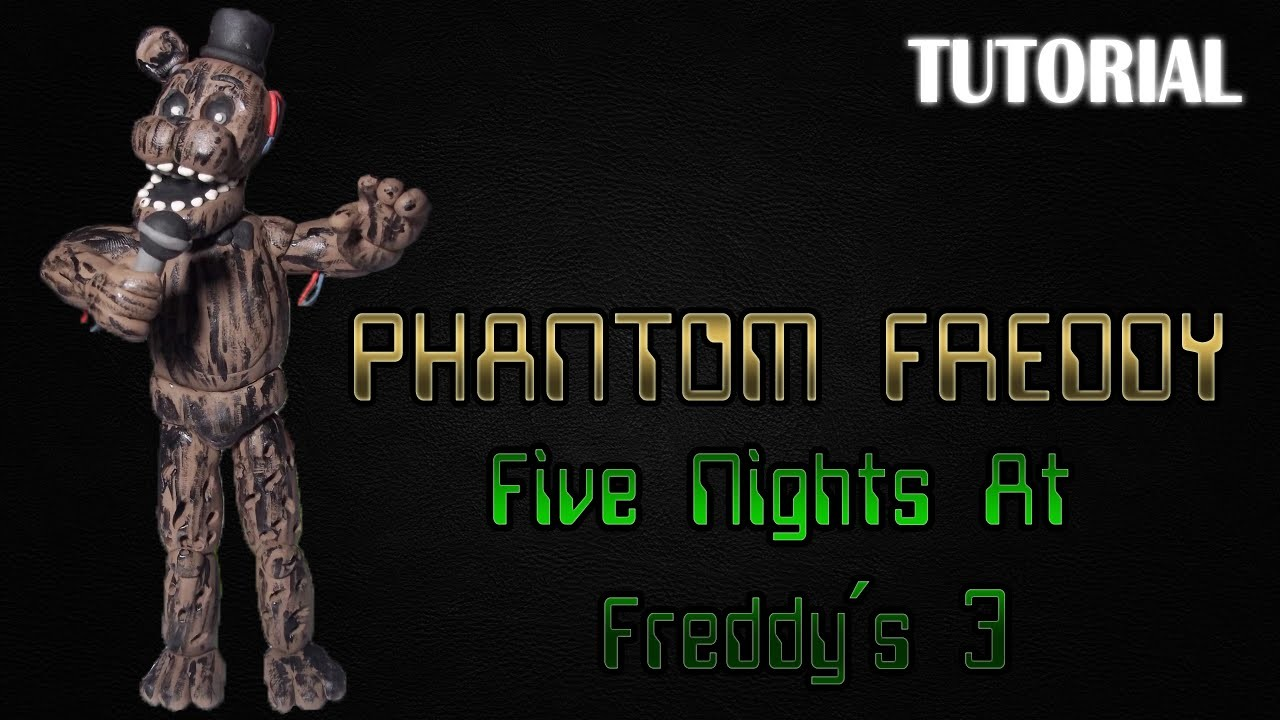 Tutorial Phantom Freddy en Plastilina | FNaF 3 | Phantom Freddy Clay Tutorial