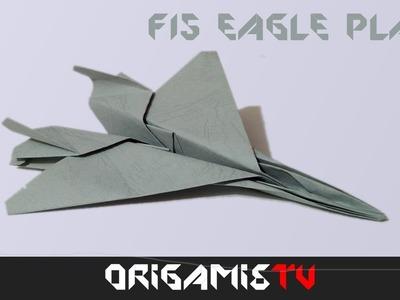 Avion de Guerra de Papel: Como hacer un avion de papel F15 Jet Facil Tutorial