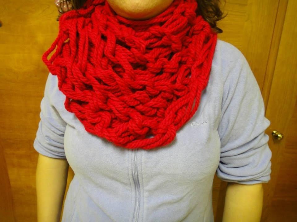 Bufanda hecha con las manos Parte 1 de 2. scarf made with your hands