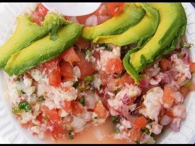 Ceviche de camarón - Shrimp ceviche recipe